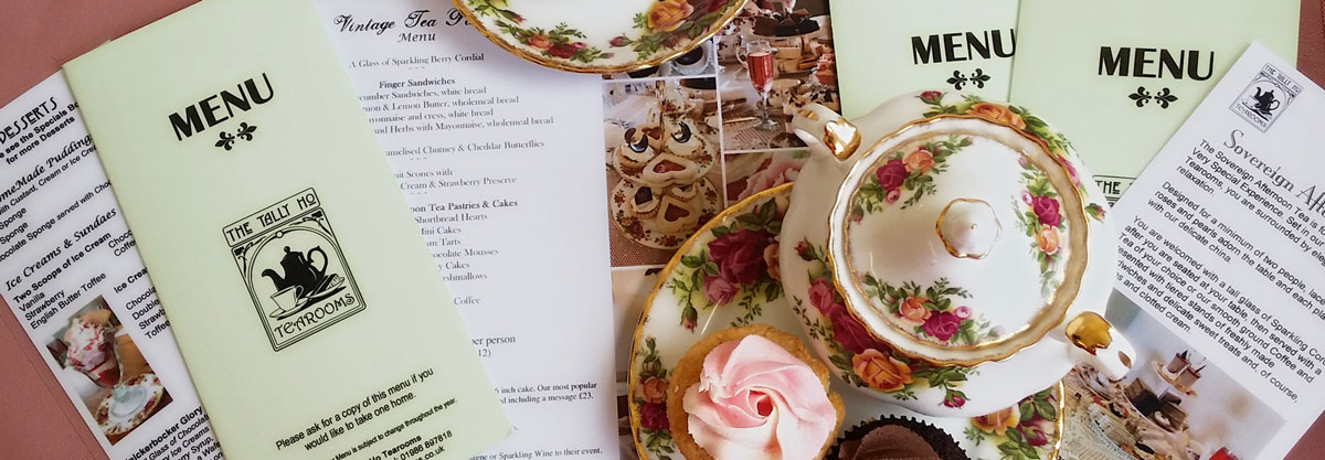 Tally Ho Tea Rooms Menus